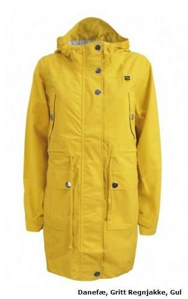 Danefæ gul regnjakke