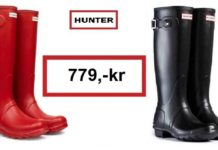 hunter gummistøvler tilbud