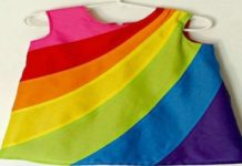 hvad betyder farver - kjole med mange farver