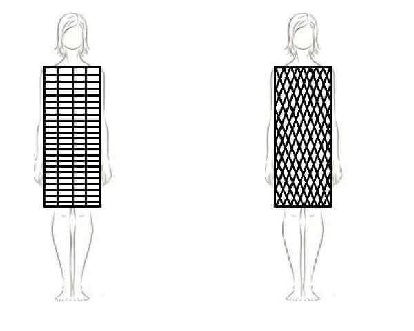kjoler med diagonale striber