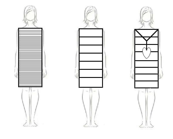 kjoler vandret striber